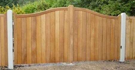 wooden board gate