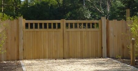 flat top wooden gate