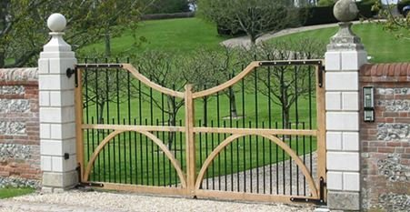 decorative wood and metal gates