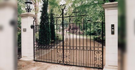 large metal curved gates