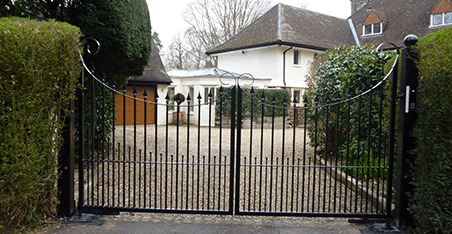 detailed and curved metal gates