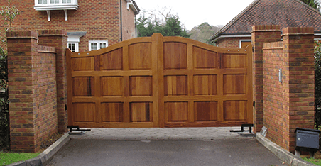 solid wood privacy gates