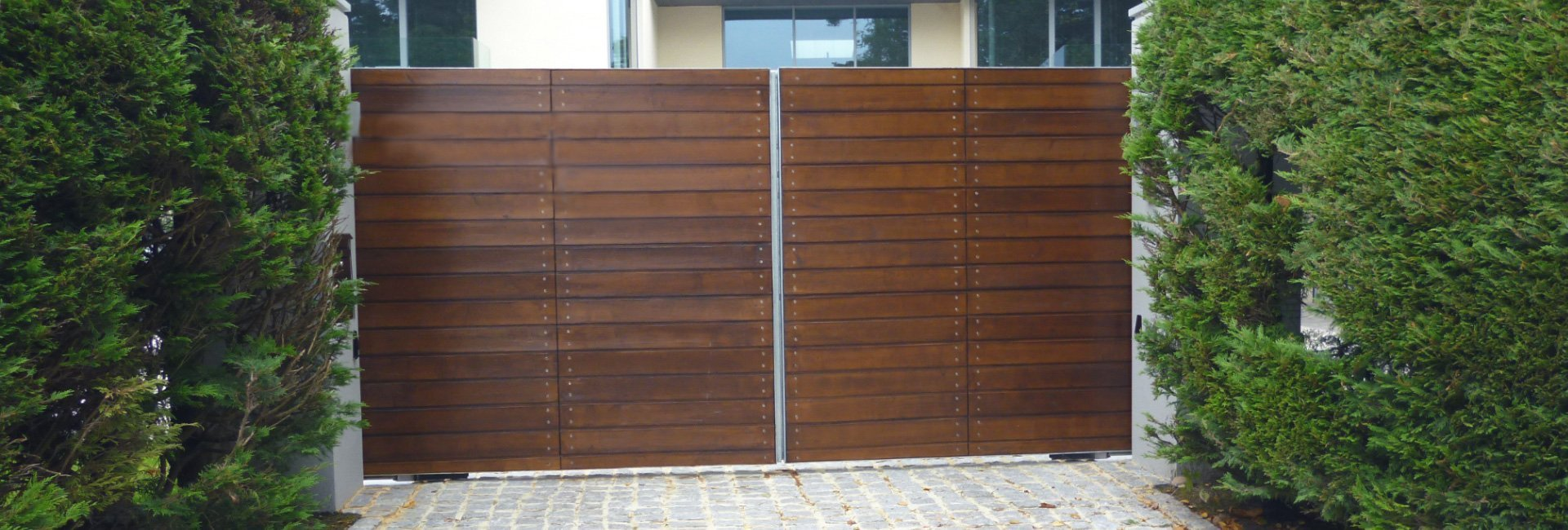 solid and private wooden gate