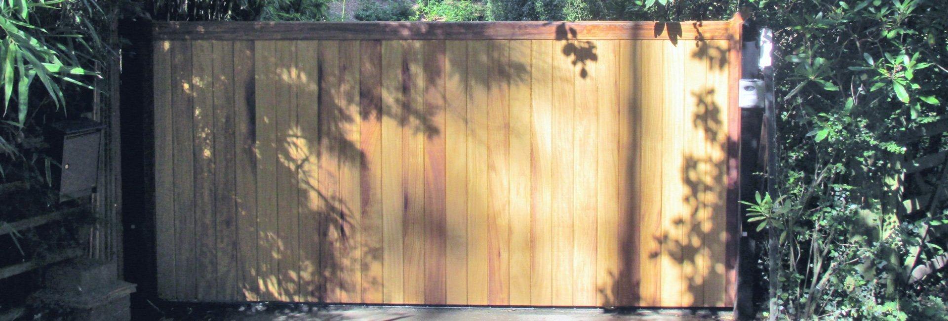 bright wood gate