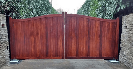 tall wooden privacy gates