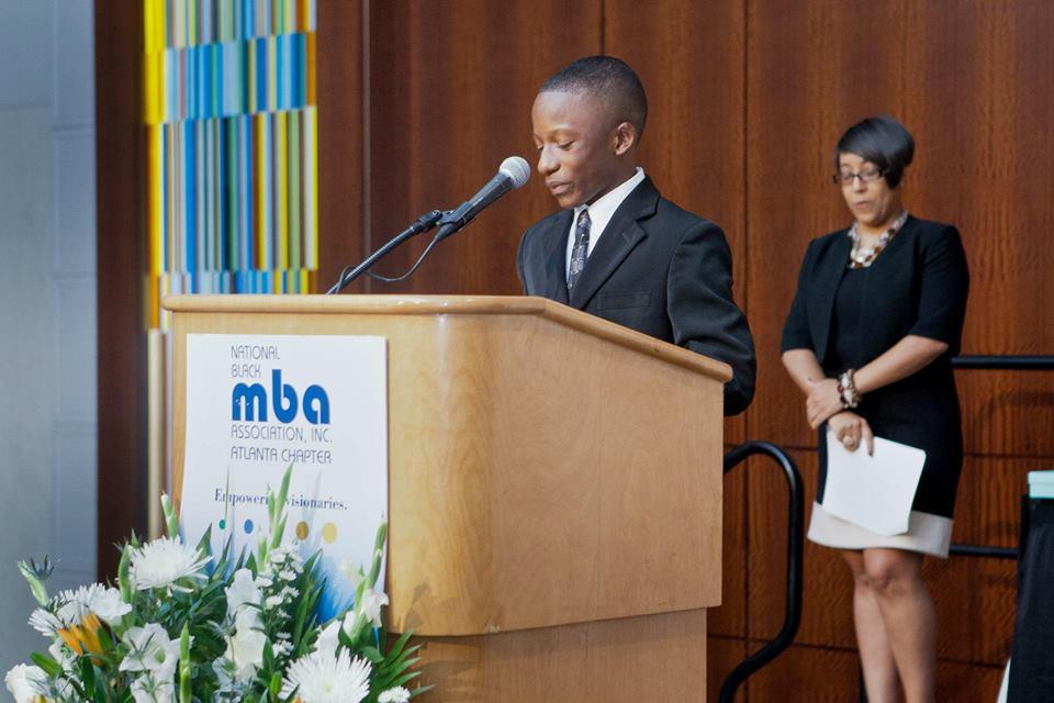 Rev. Jared Sawyer Jr. speaks at the National Black MBA w/ Mo Ivory
