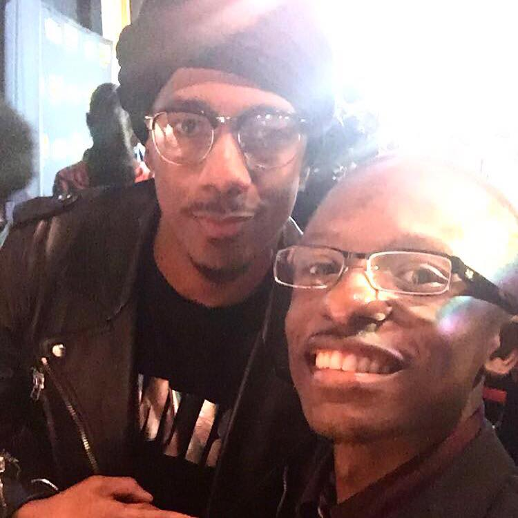 Rev. Jared Sawyer Jr. and Nick Cannon