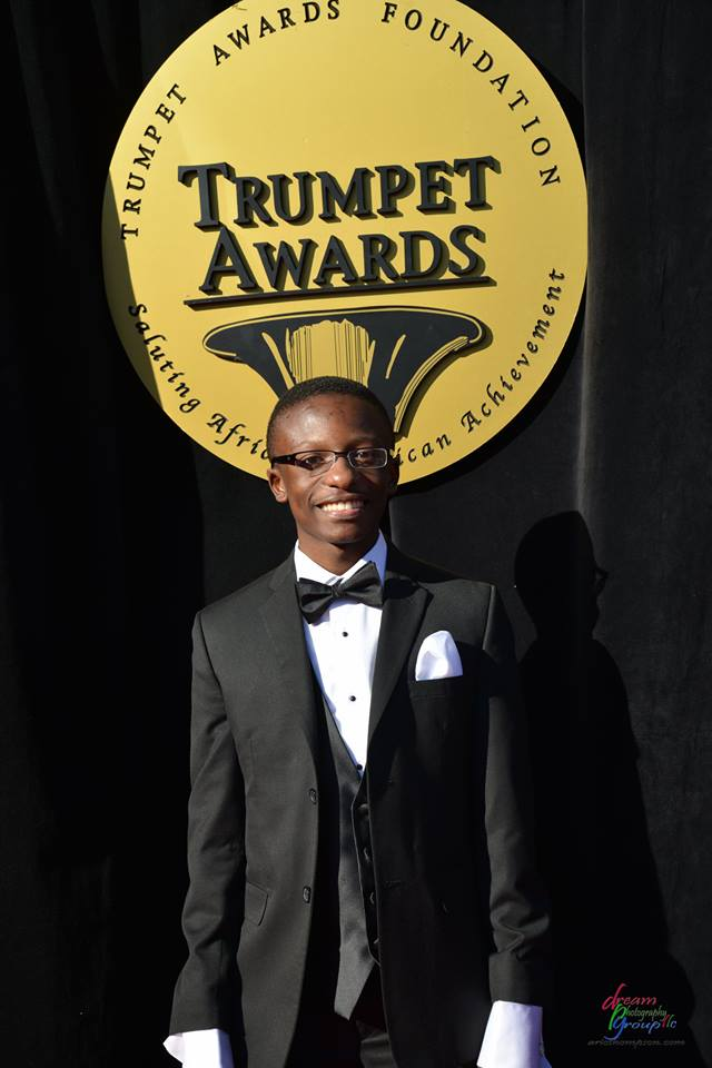 Rev. Jared Sawyer Jr. on the red carpet at the 2014 Trumpet Awards