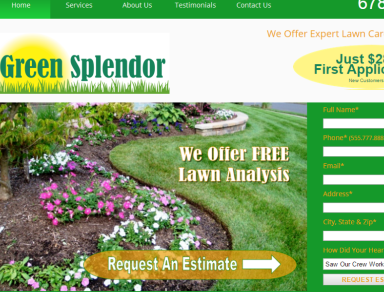 Landscaping Web Design Services