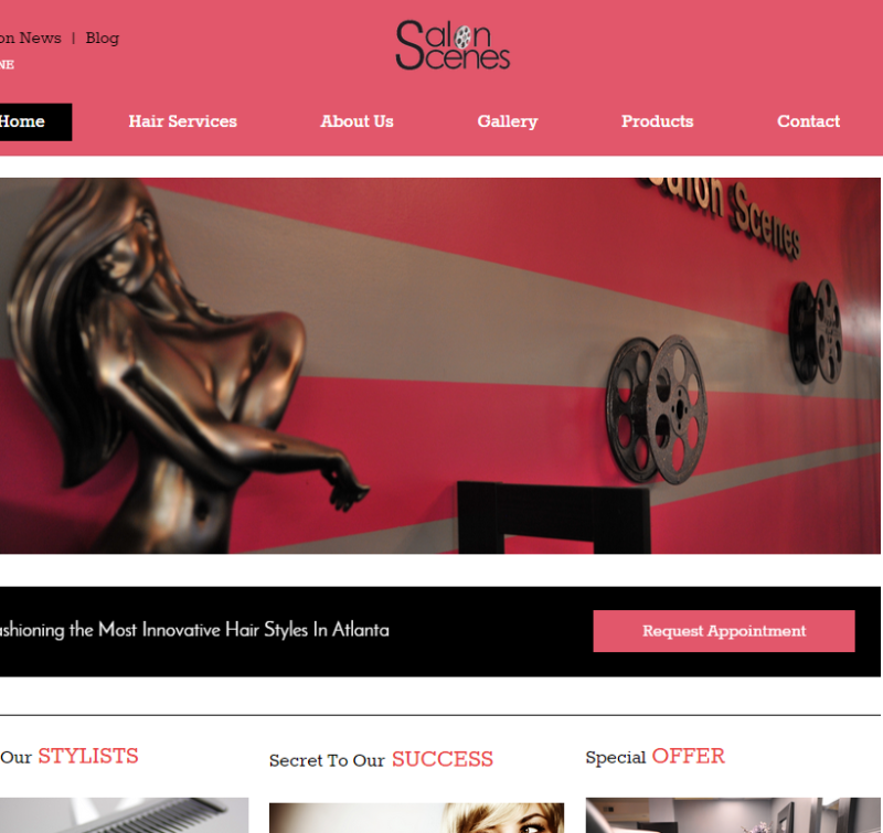 Beauty Salon Web Design Services