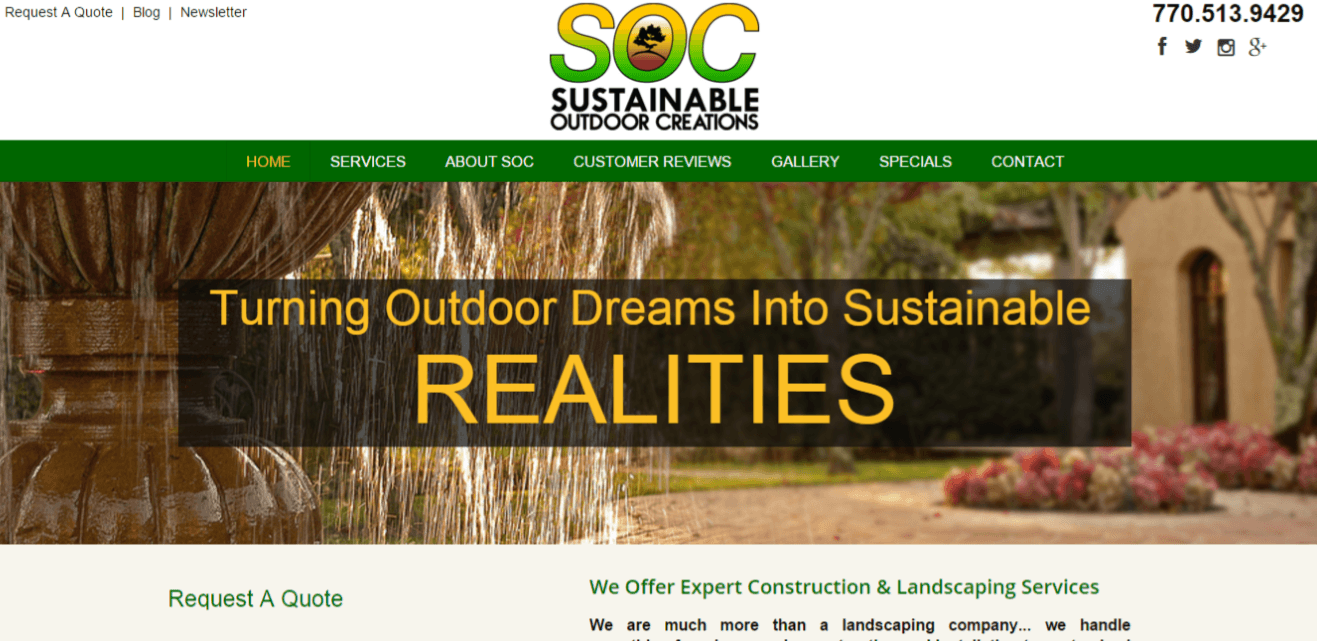 Landscape Company Website Packages