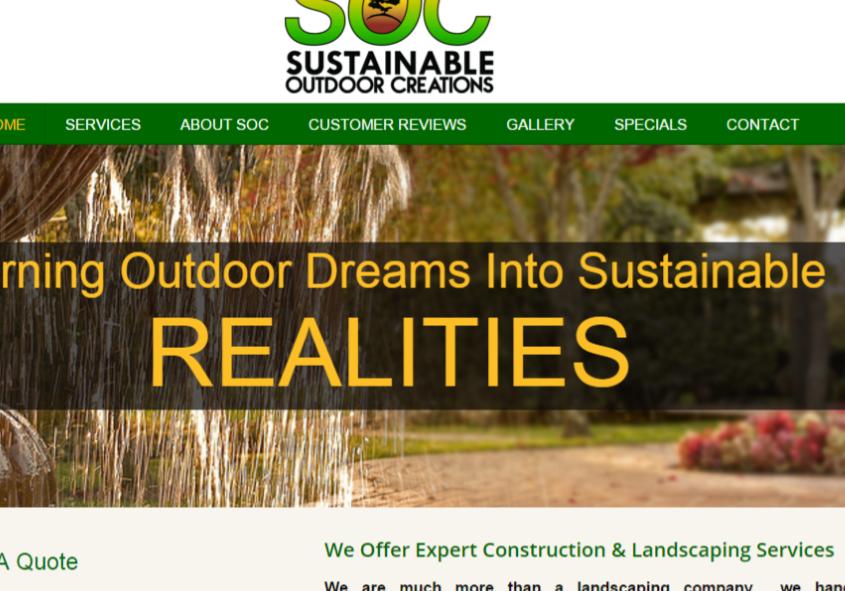 Landscaping Web Design Services