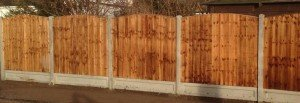 wooden panel fence