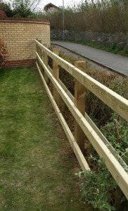 timber barrier