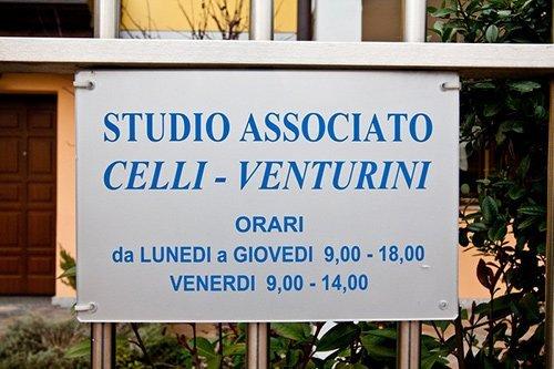 insegna dello Studio Associato Celli - Venturini