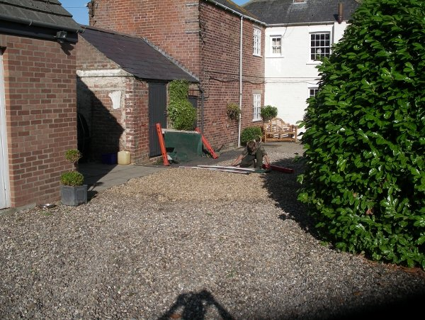 Driveway re-instated