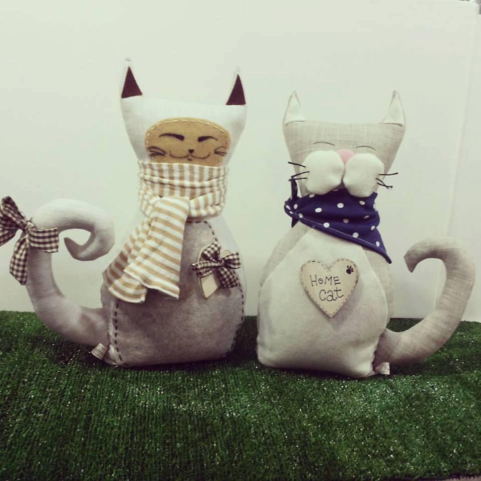 Due gatti di pezza