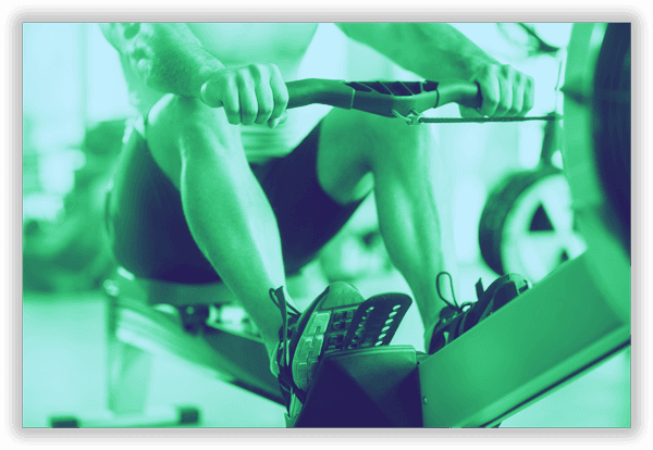 Membership Header image of person using rowing machine