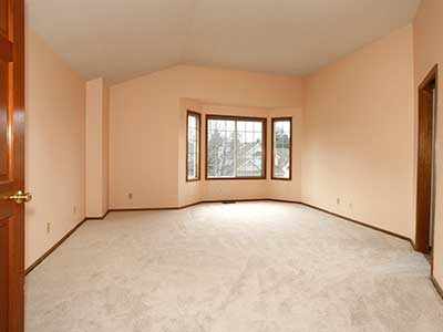 Large empty master bedroom
