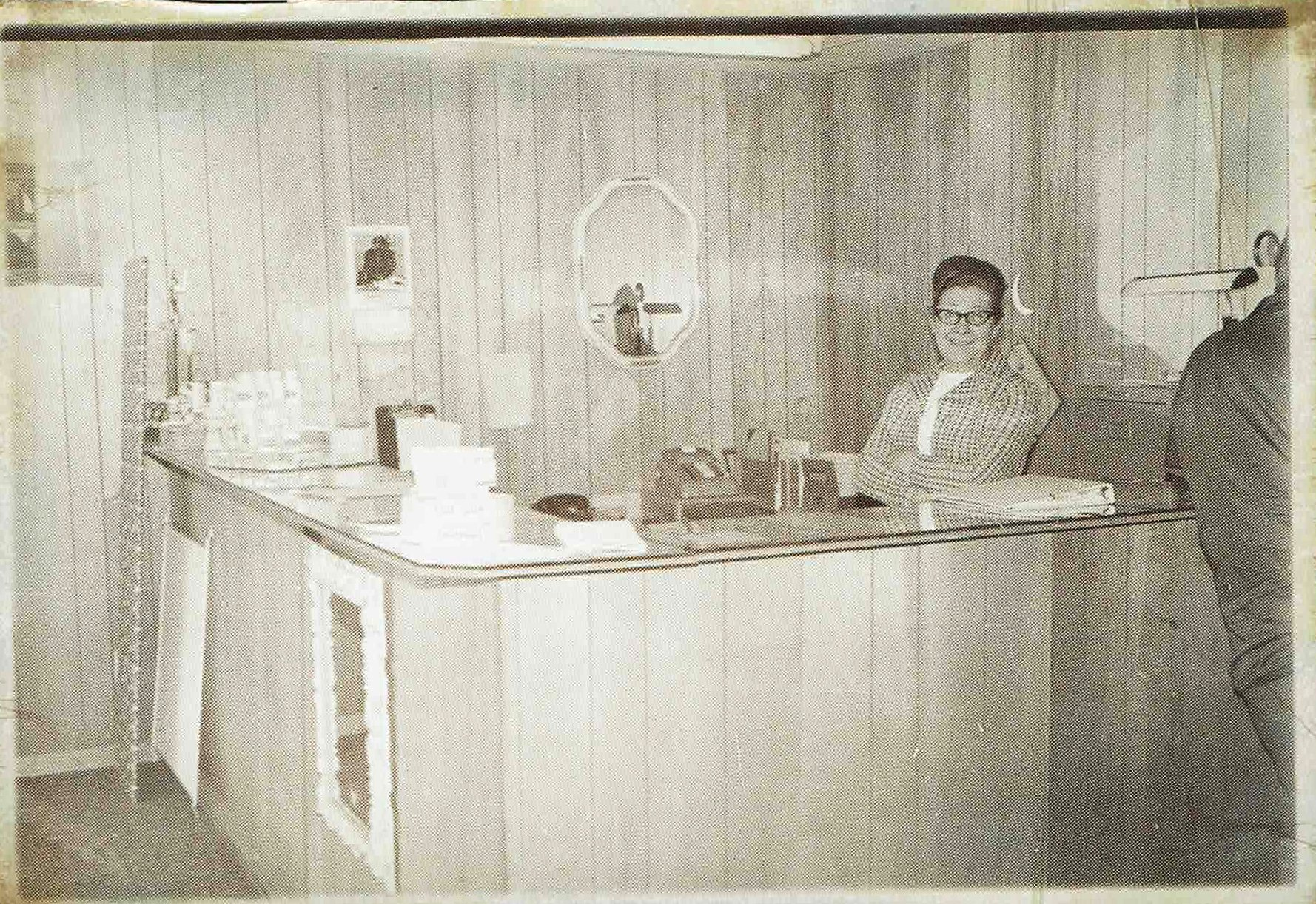 Fenton Glass Front Desk May 1968