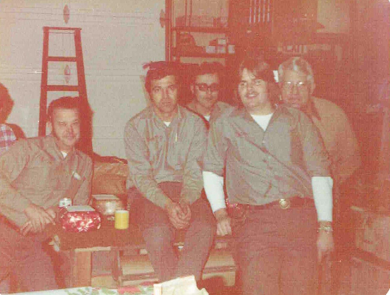Fenton Glass Staff January 1976