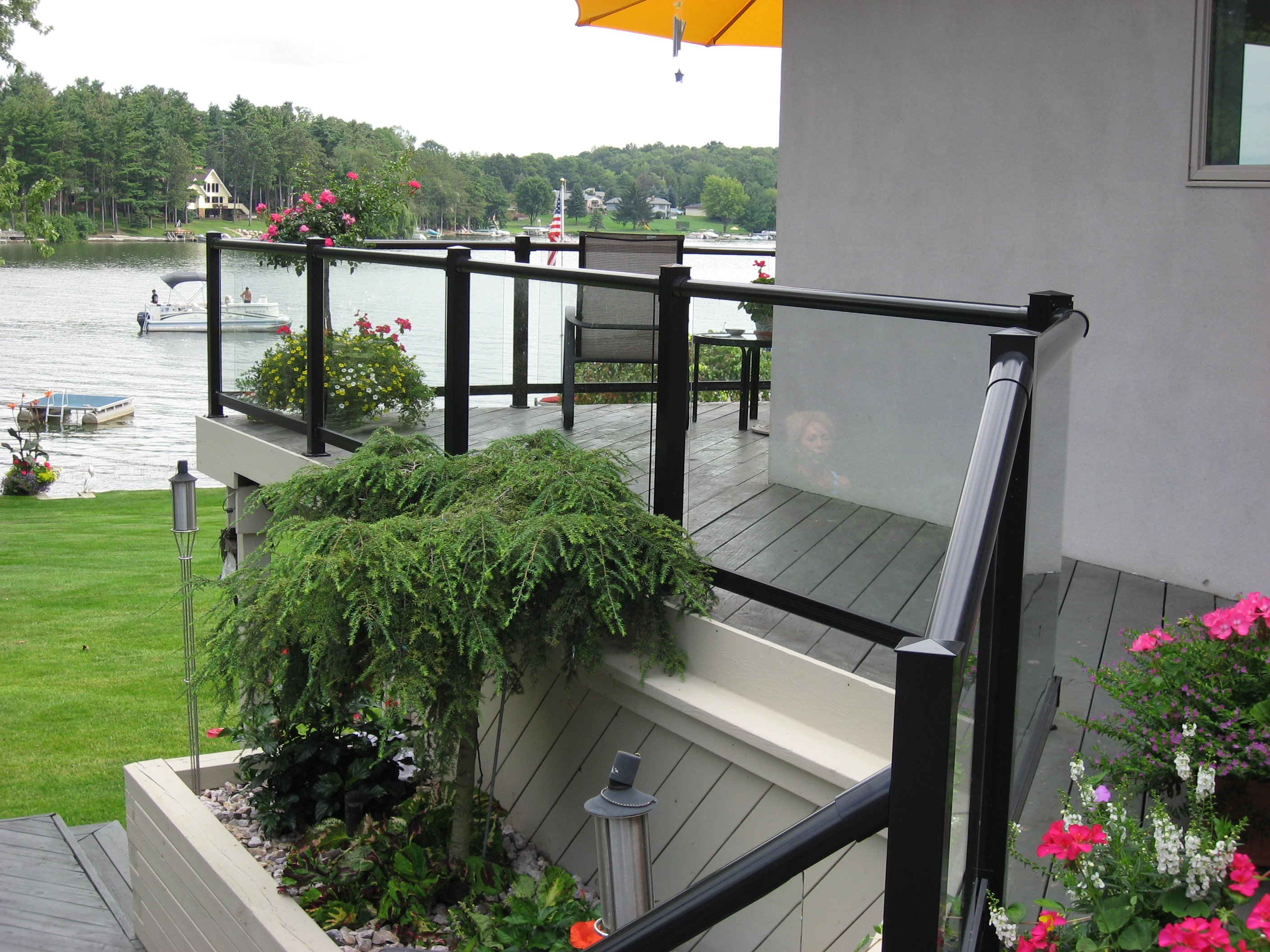 Glass Deck Railing, Lake Shannon