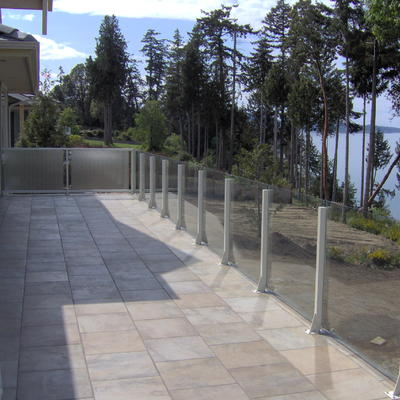 Railcraft Beach Post Glass Deck Railing