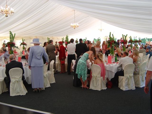 A busy Marquee Wedding