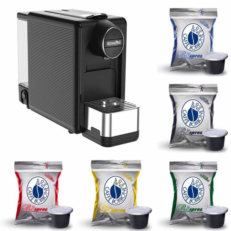 una macchinetta del caffe' e delle confezioni di cialde