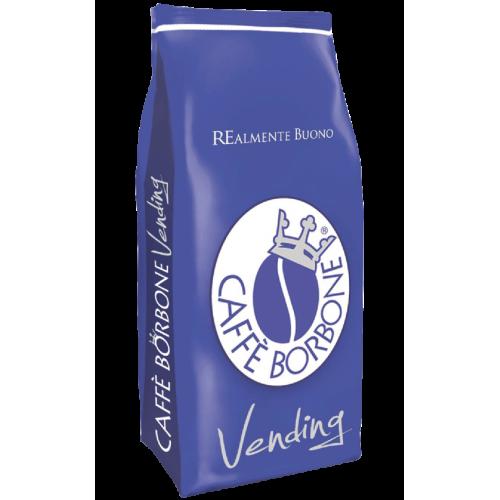 una confezione blu di Caffe' Borbone