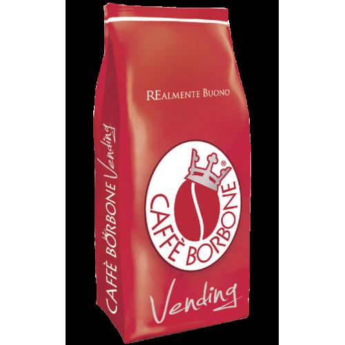 una confezione rossa di Caffe' Borbone