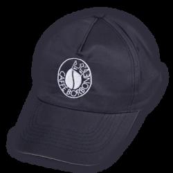 un cappellino con la visiera di color nero