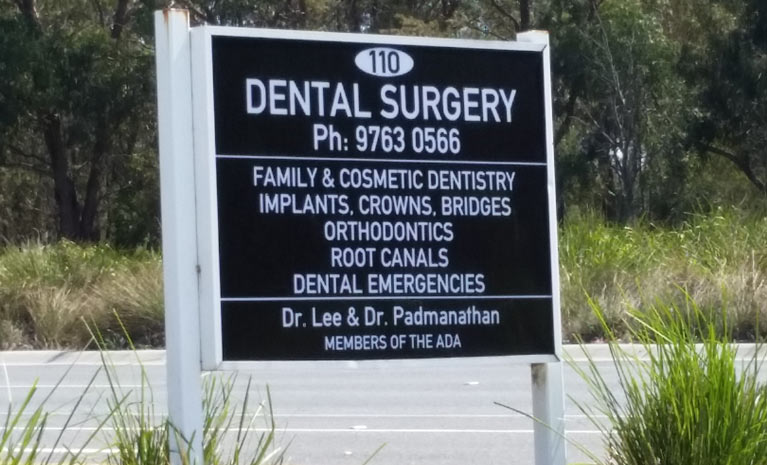 rowville dental surgery name board