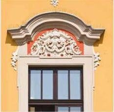 Anti-pigeon cornices and window sills