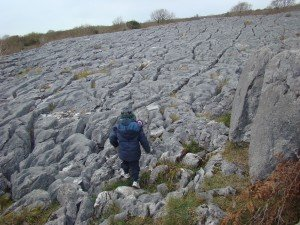 4 A young trekker negotiates the crazy pavement. 300x225 Facts