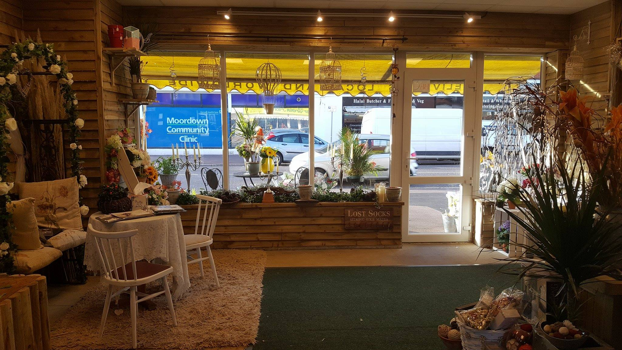 inside the flower shop