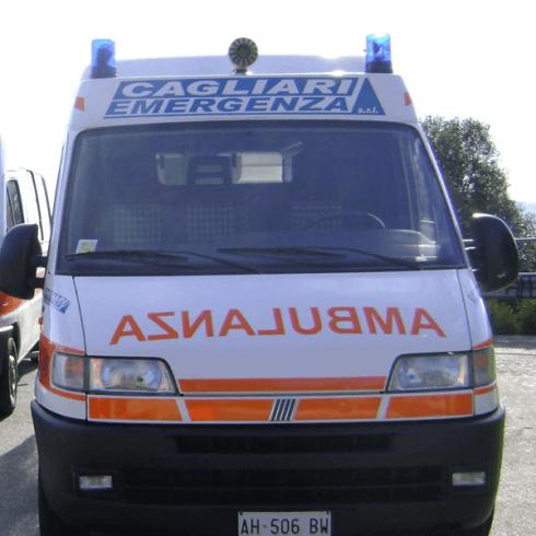 fronte dell'ambulanza