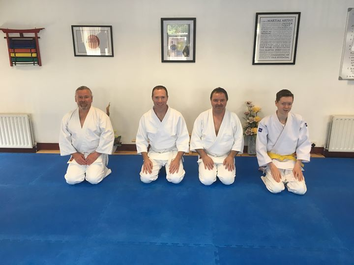 Four Aikido students that attended the jo seminar