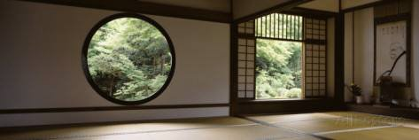 Japanese temple room and windows
