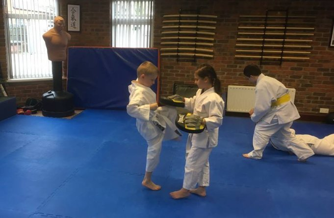 Aikido children training for next grading. Martin Acton's Aikido Institute