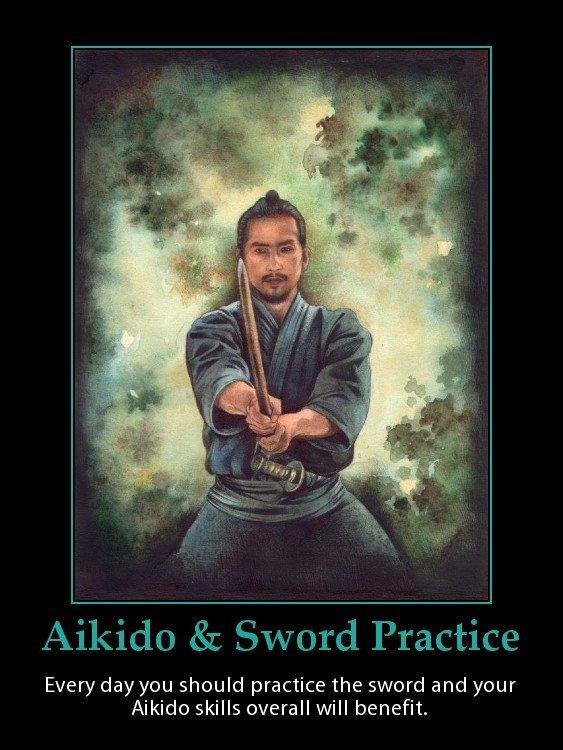 A Japanese samurai practicing his swordsmanship.