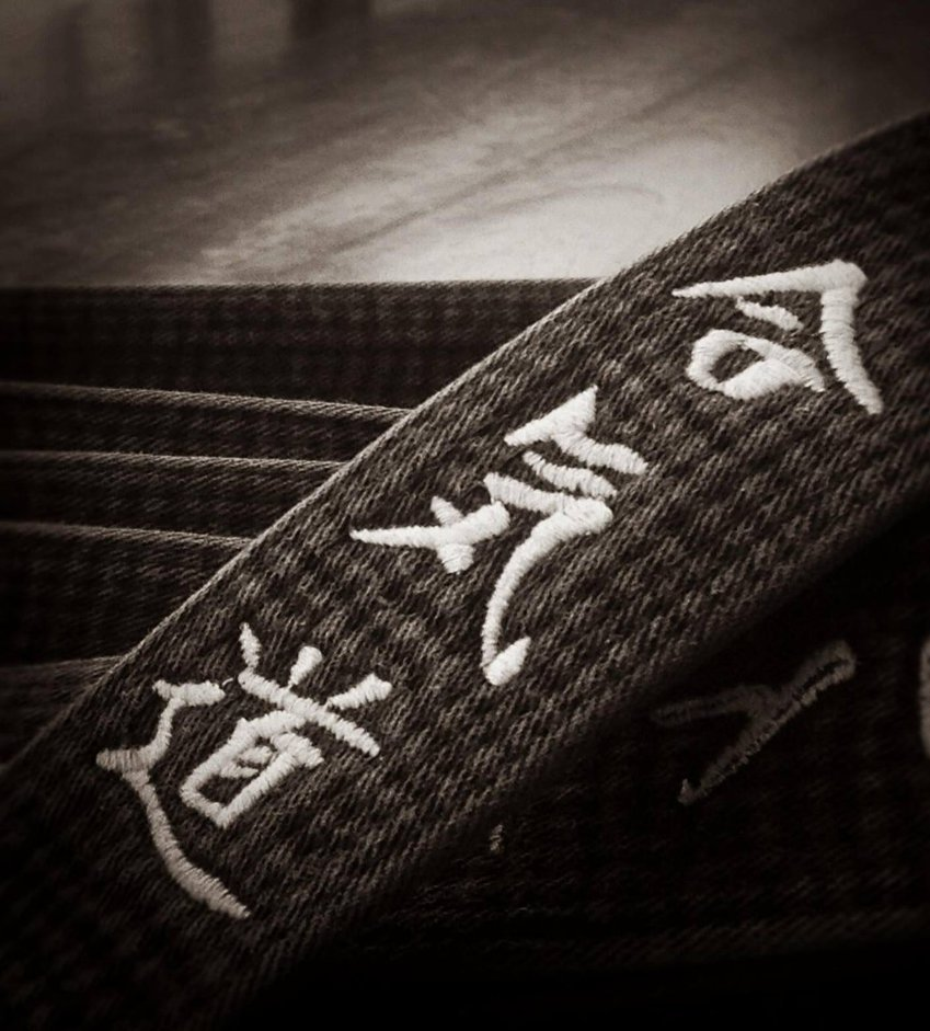 Close up black belt