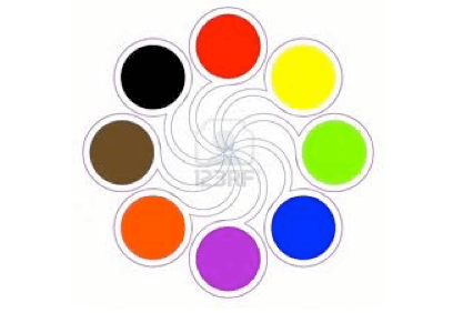 learning Japanese. Young Poster of colours for students to use to learn Japanese vocabulary for colours. Martin Acton's Aikido Institute