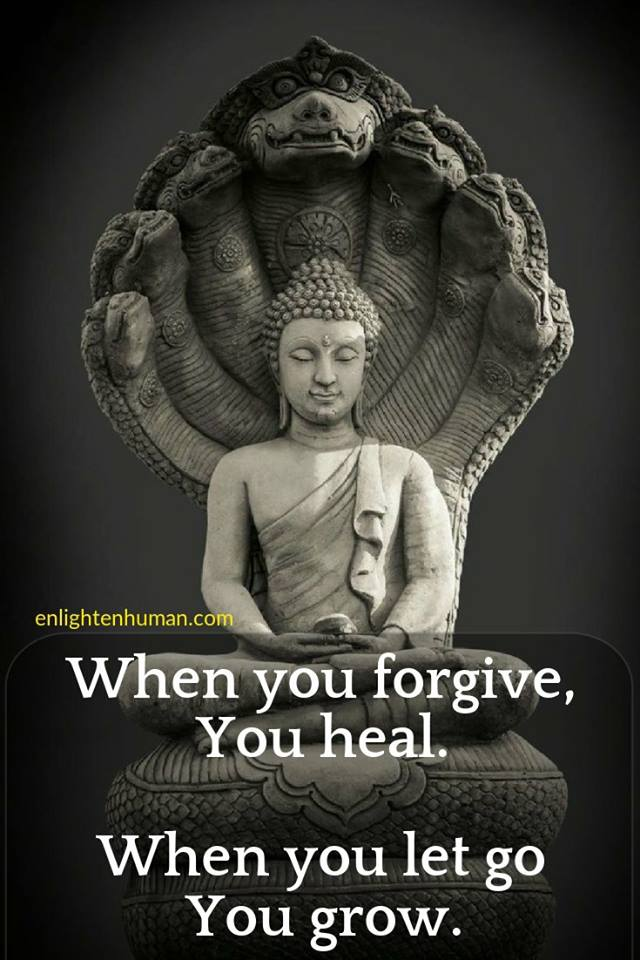 A poster saying to forgive and let go to heal and grow