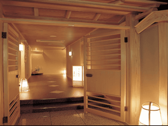 hallway in Japanese guesthouse. Martin Actons Aikido Institute