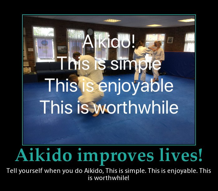 A post to help people keep practicing Aikido when their ego tries to get them to stop.