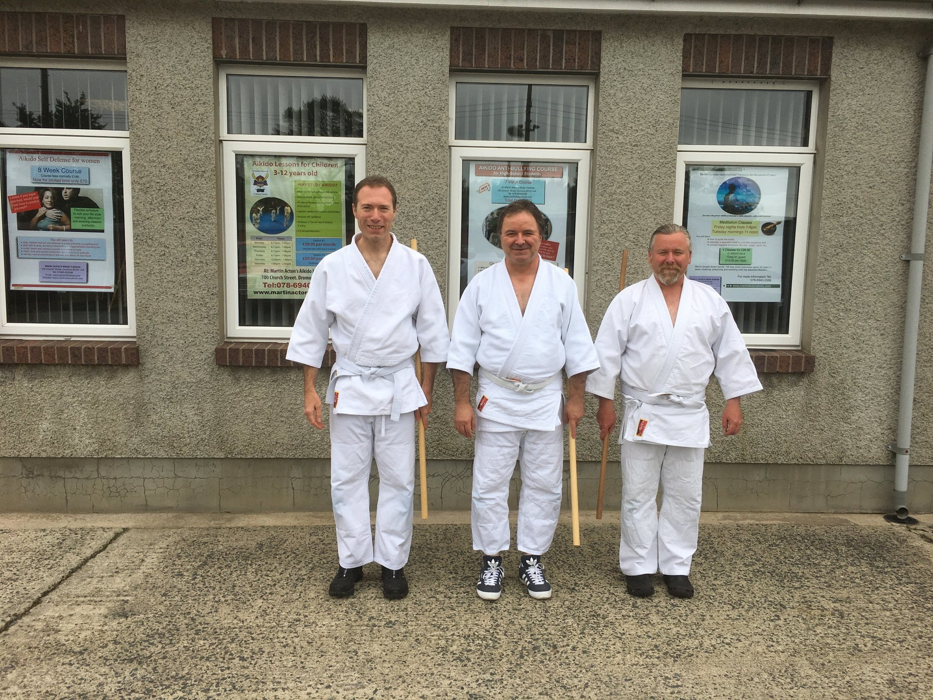 Aikido jo Seminar three students attended on 27/8/2017 at Martin Acton's Aikido Institute