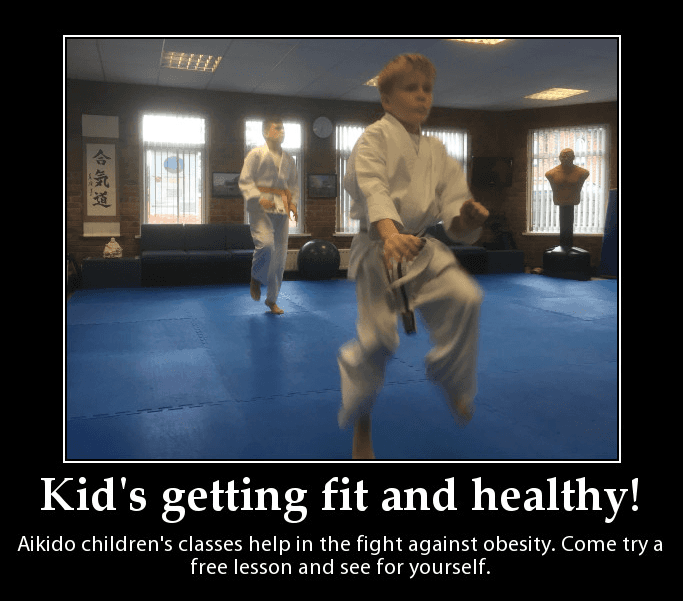 Children practicing Aikido