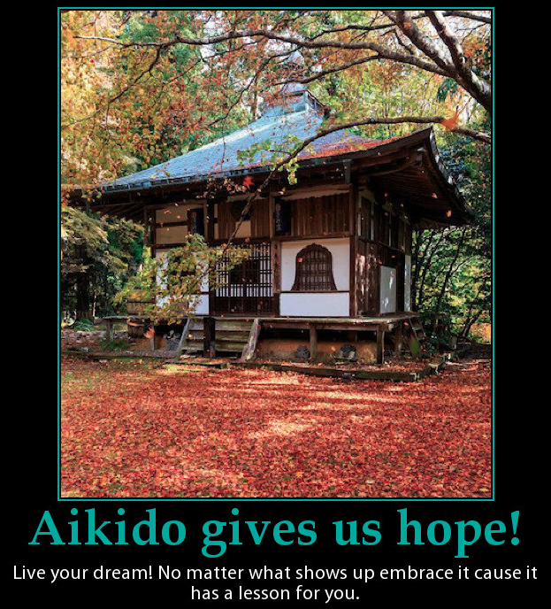 This is a poster of an autumn scene with words to inspire people to embrace what ever live sends their way.