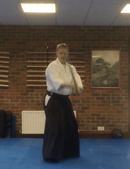 Martin Acton with Japanese Wooden Sword